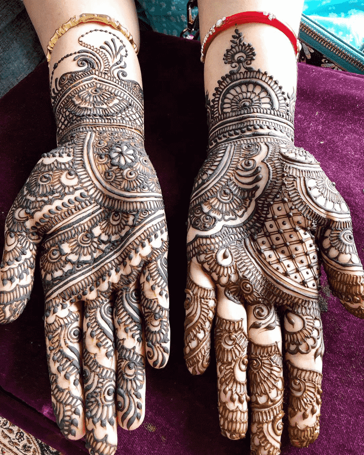 Beauteous Hariyali Teej Henna Design