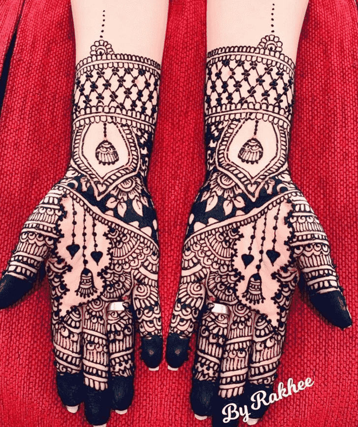 Charming Hariyali Teej Henna Design