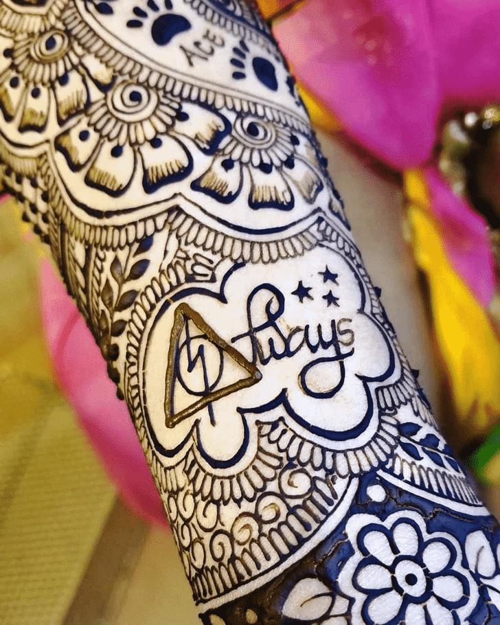Appealing Harry Potter Henna Design