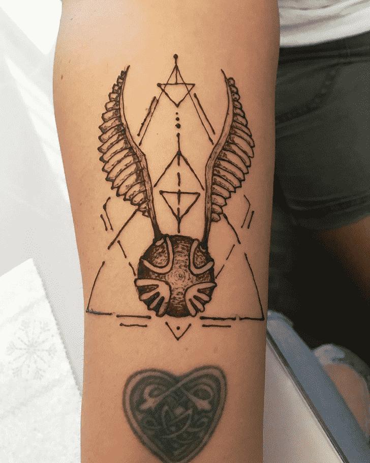 Arm Harry Potter Henna Design