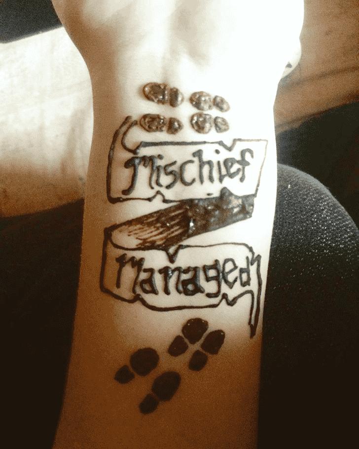 Delightful Harry Potter Henna Design