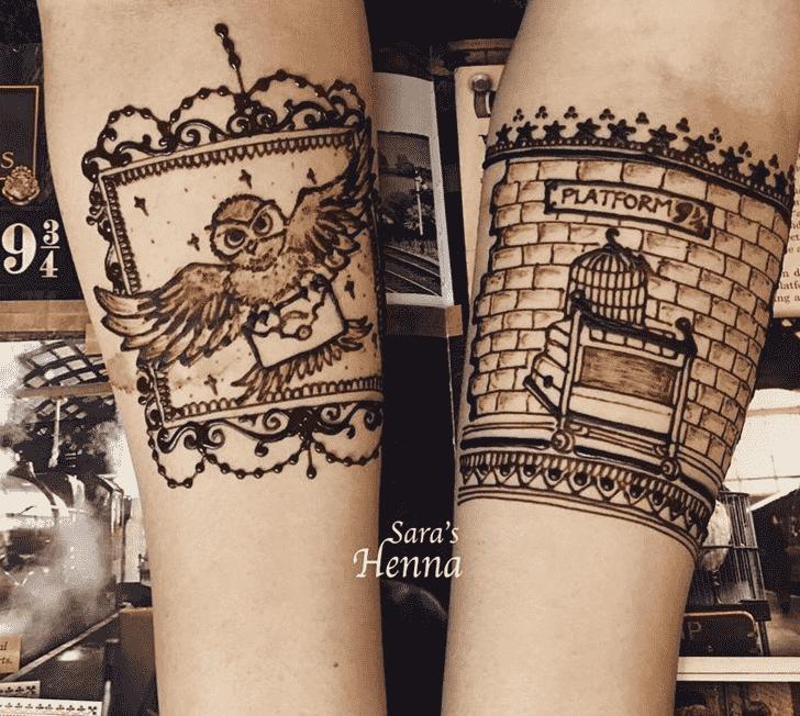 Grand Harry Potter Henna Design