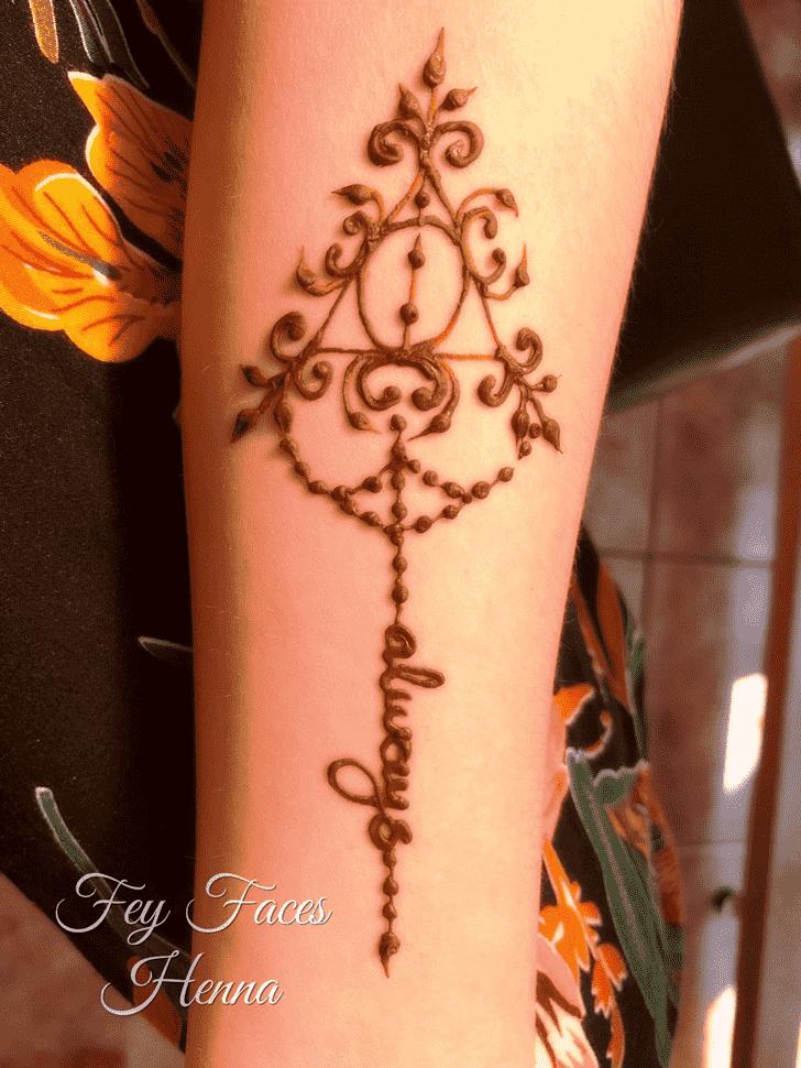 Resplendent Harry Potter Henna Design