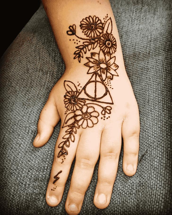 Splendid Harry Potter Henna Design