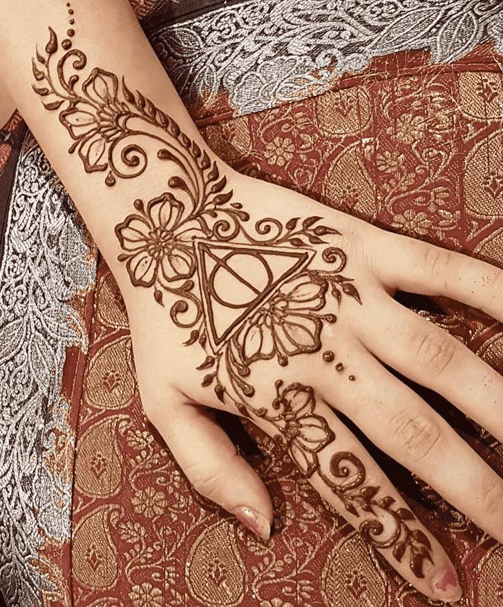 Stunning Harry Potter Henna Design