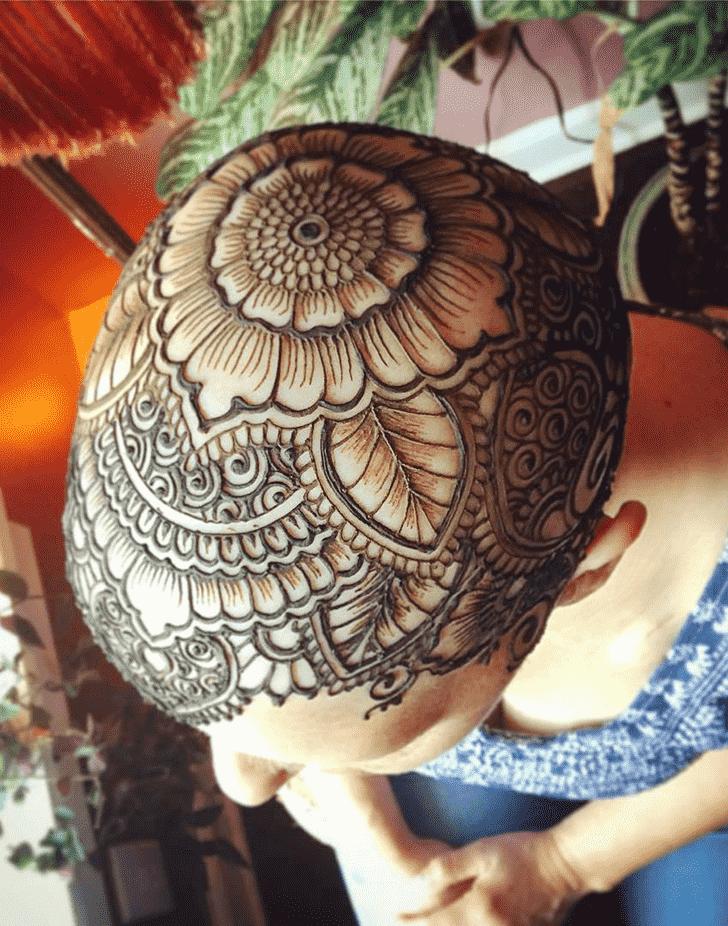Bewitching Head Henna design