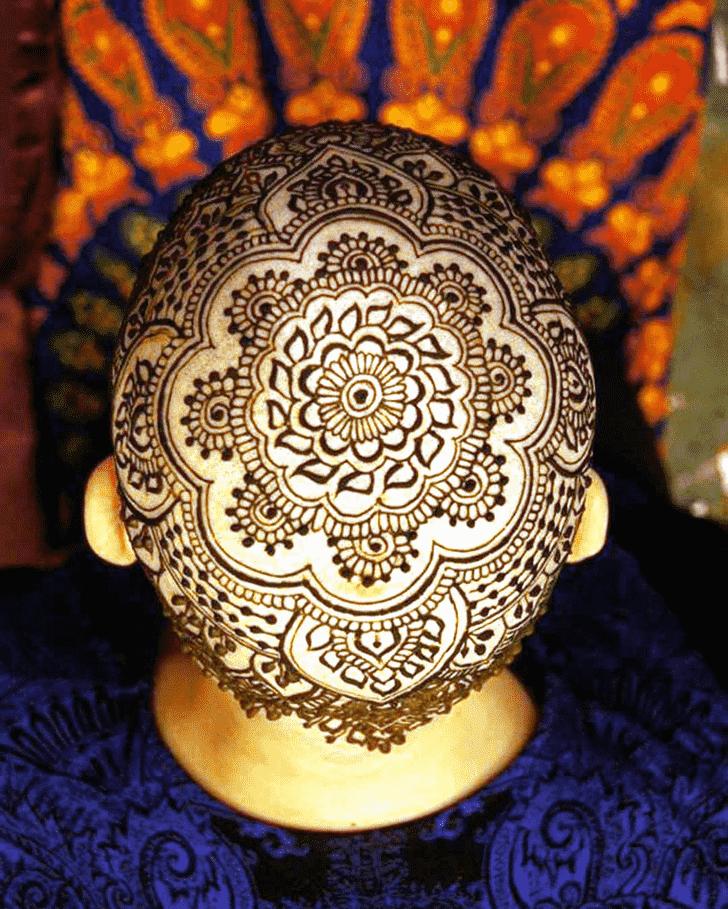 Cute Head Henna design
