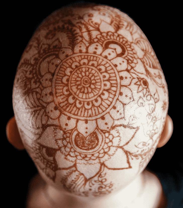 Delightful Head Henna design