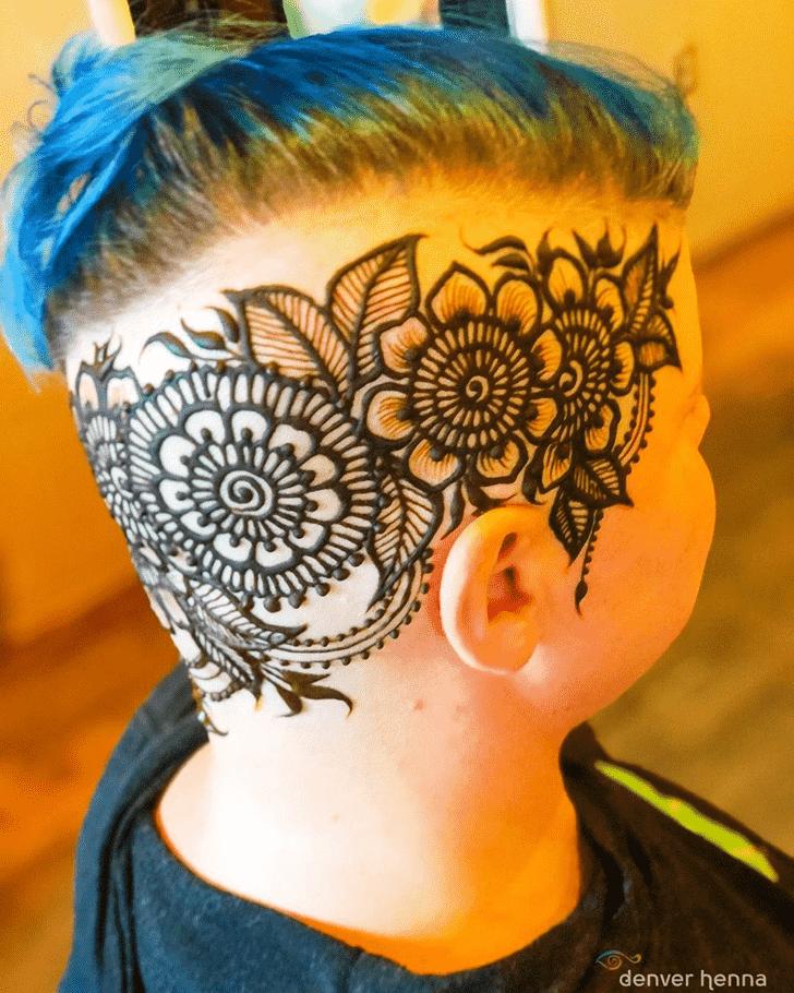 Divine Head Henna design