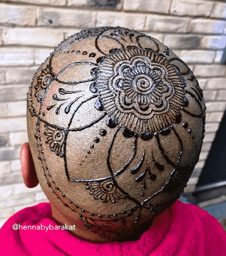 Excellent Head Henna design
