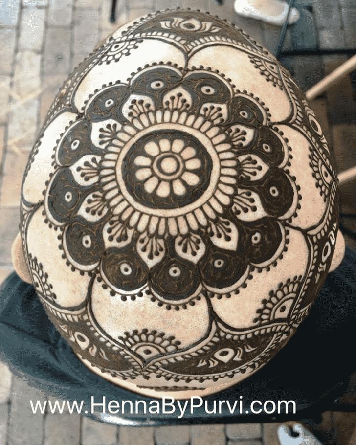Fascinating Head Henna design
