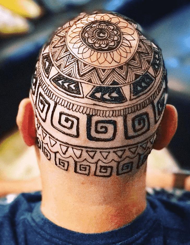 Fetching Head Henna design
