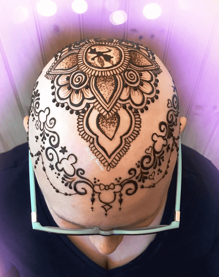 Ideal Head Henna design