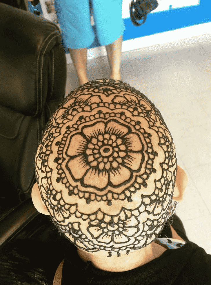 Magnetic Head Henna design