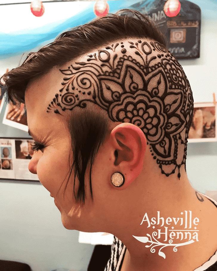 Mesmeric Head Henna design