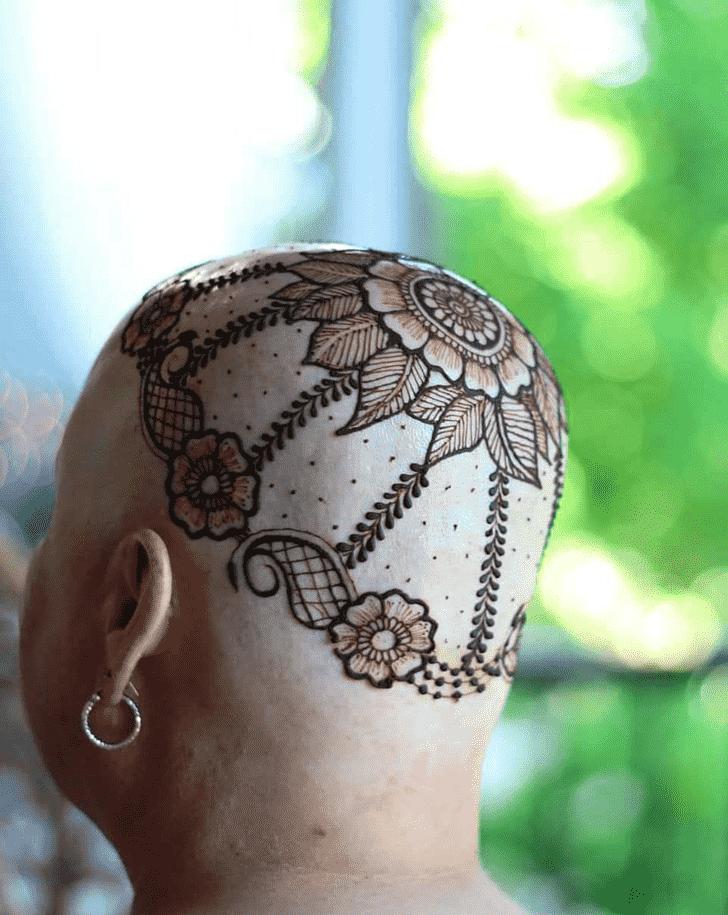 Pleasing Head Henna design