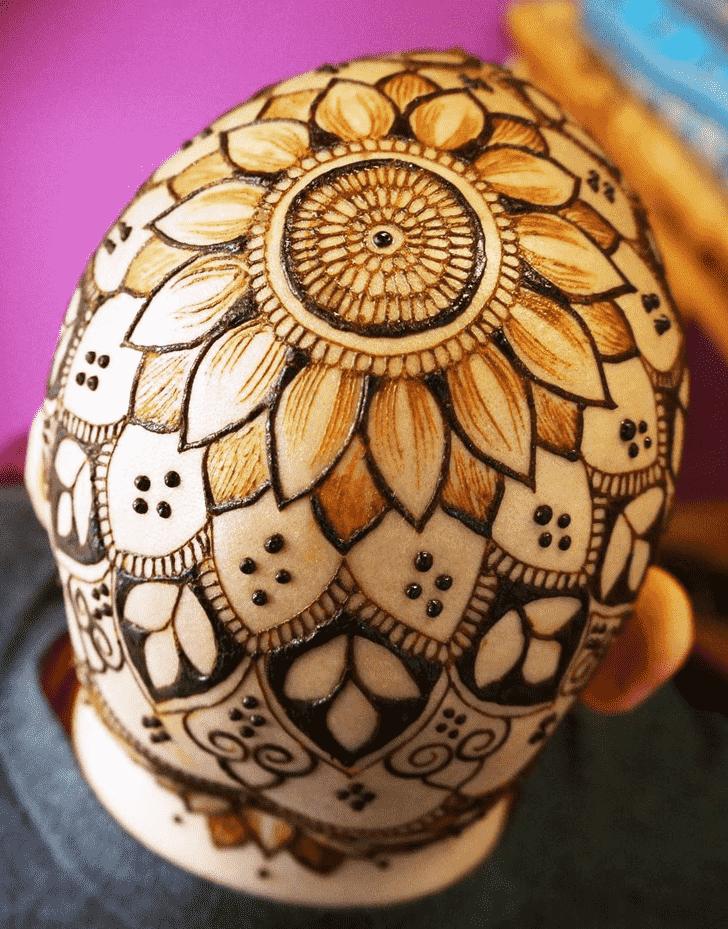 Pretty Head Henna design