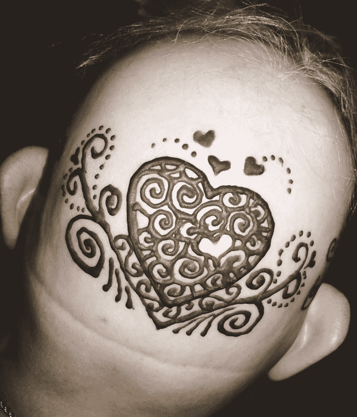 Superb Head Henna design