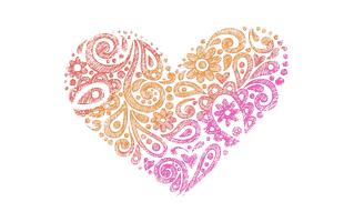 Heart Mehndi Design
