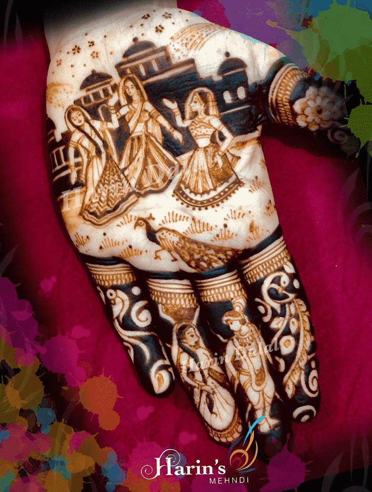 Adorable Holi Henna Design