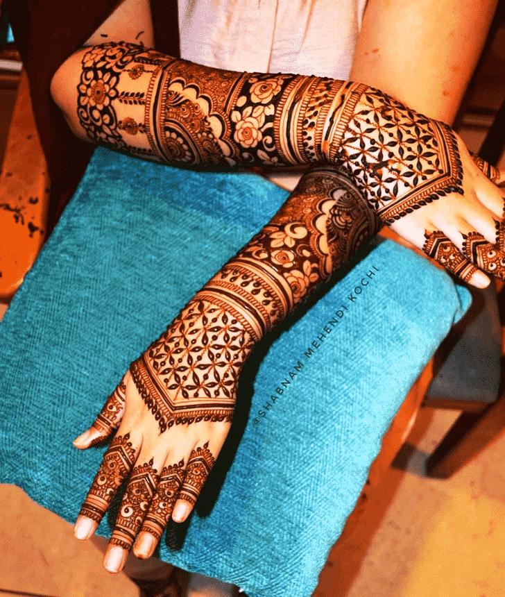 Appealing Holi Henna Design
