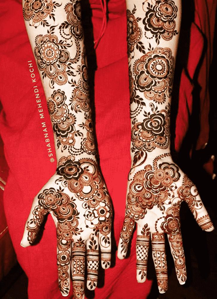 Bewitching Holi Henna Design