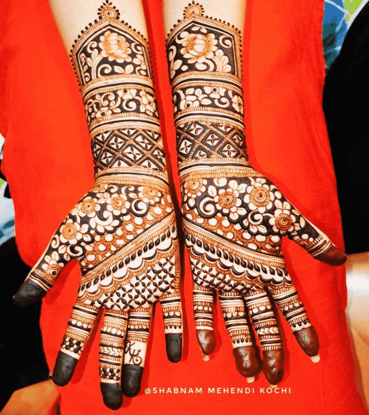 Captivating Holi Henna Design