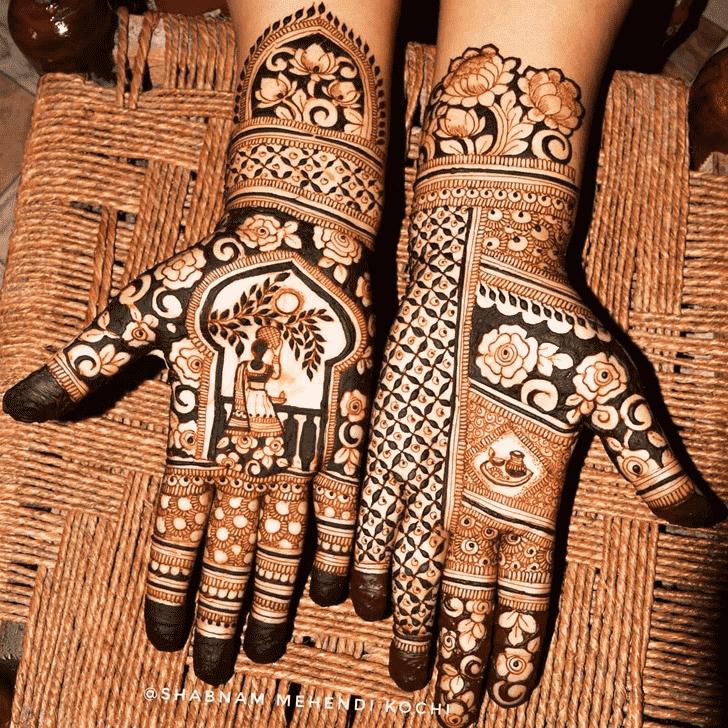 Comely Holi Henna Design