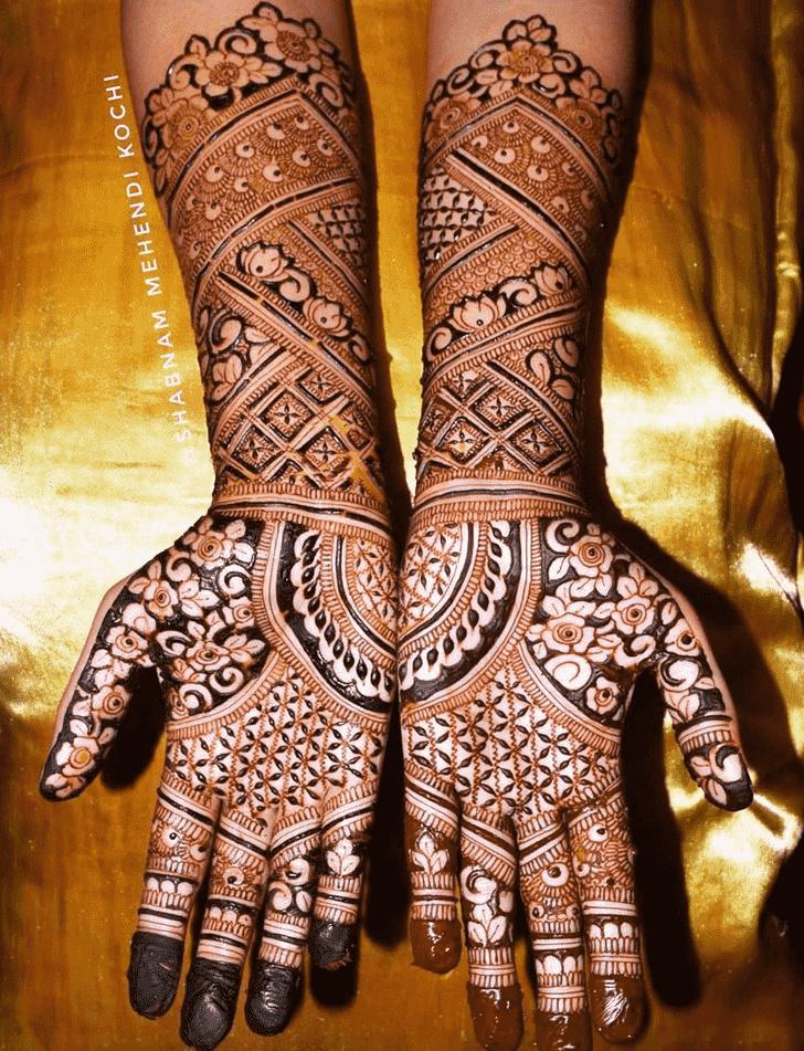 Delicate Holi Henna Design