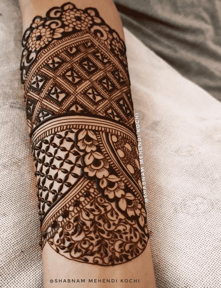 Arm Holi Henna Design