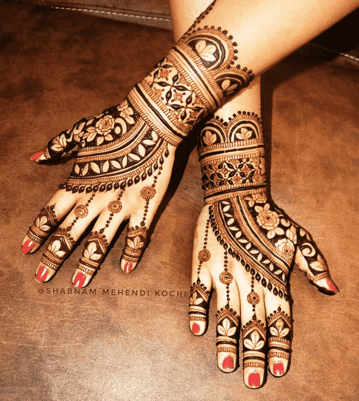 Fair Holi Henna Design