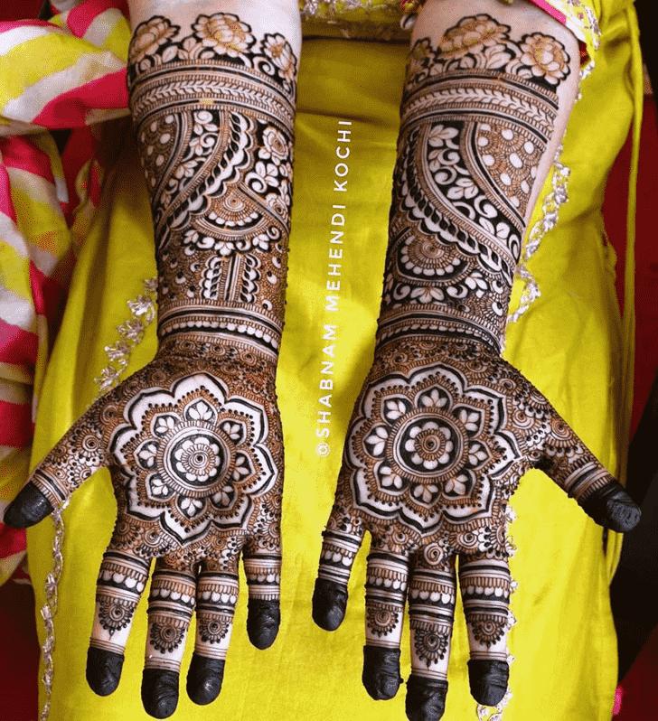 Mesmeric Holi Henna Design