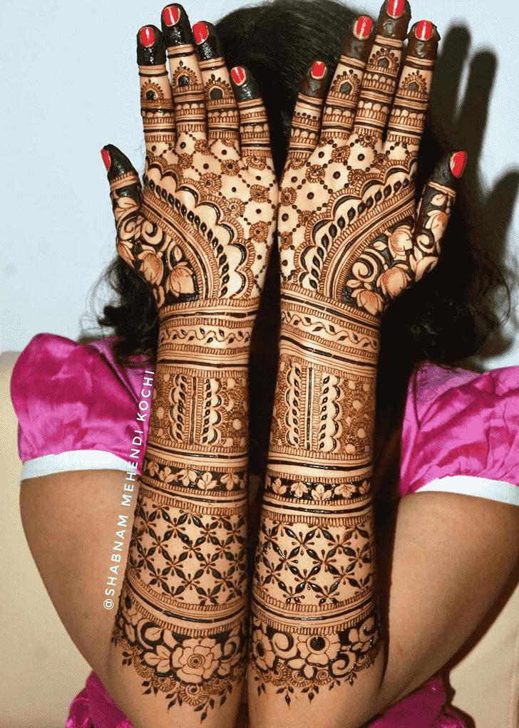 Nice Holi Henna Design
