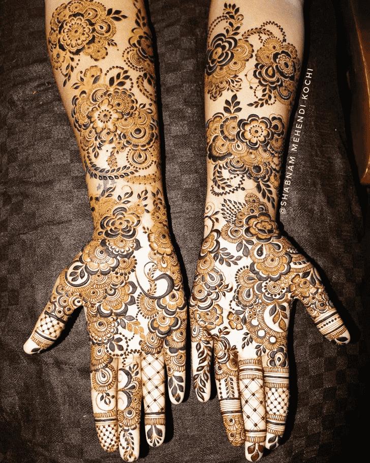 Pleasing Holi Henna Design