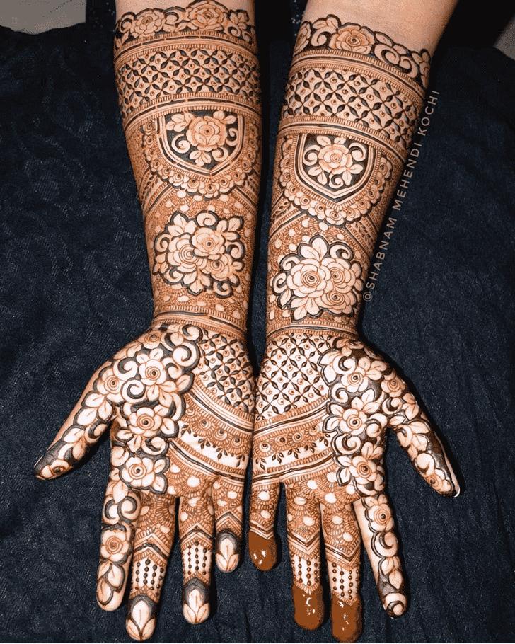 Pretty Holi Henna Design