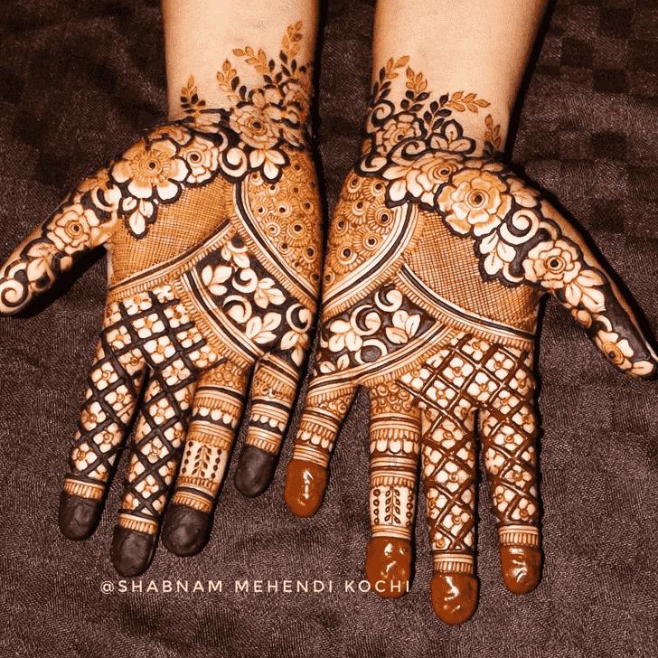 Radiant Holi Henna Design