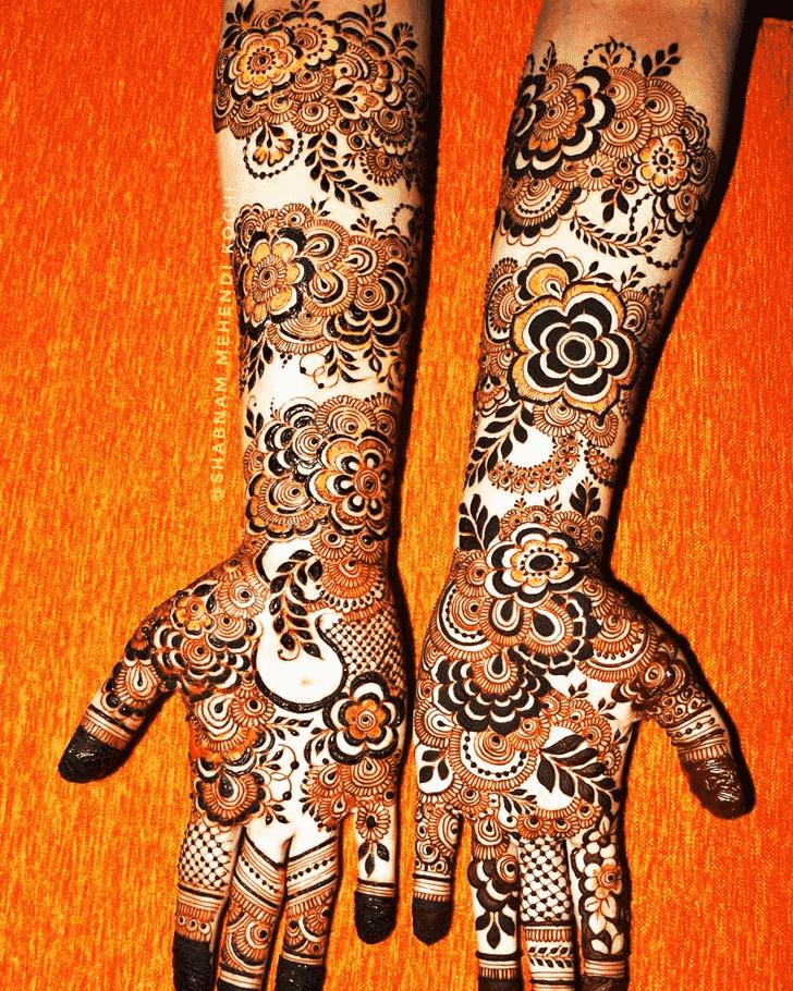 Refined Holi Henna Design