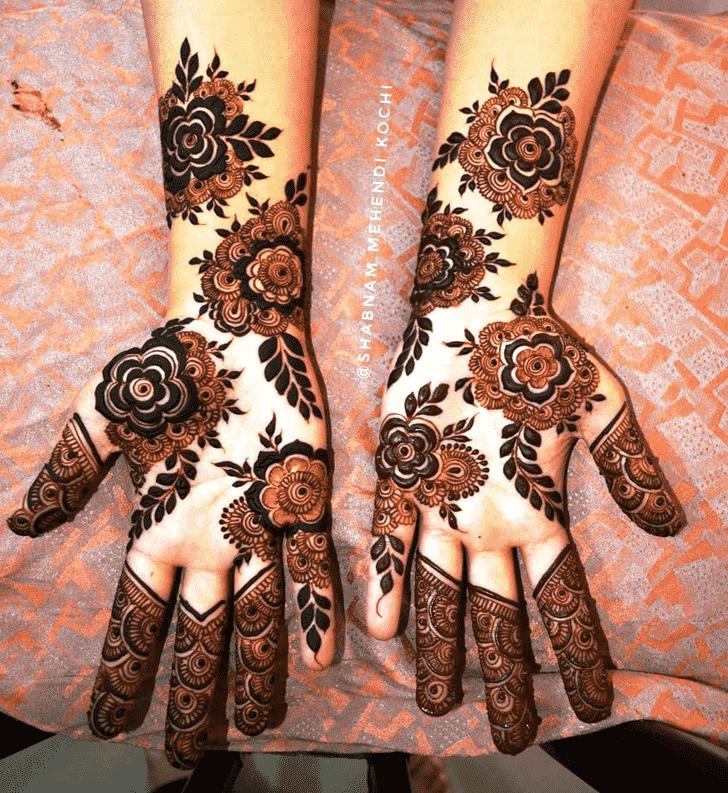 Slightly Holi Henna Design