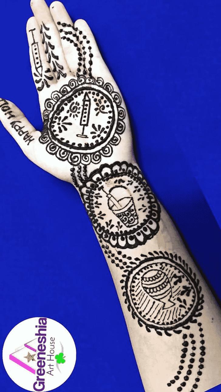 Superb Holi Henna Design