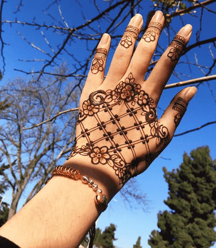 Adorable Hyderabad Henna Design