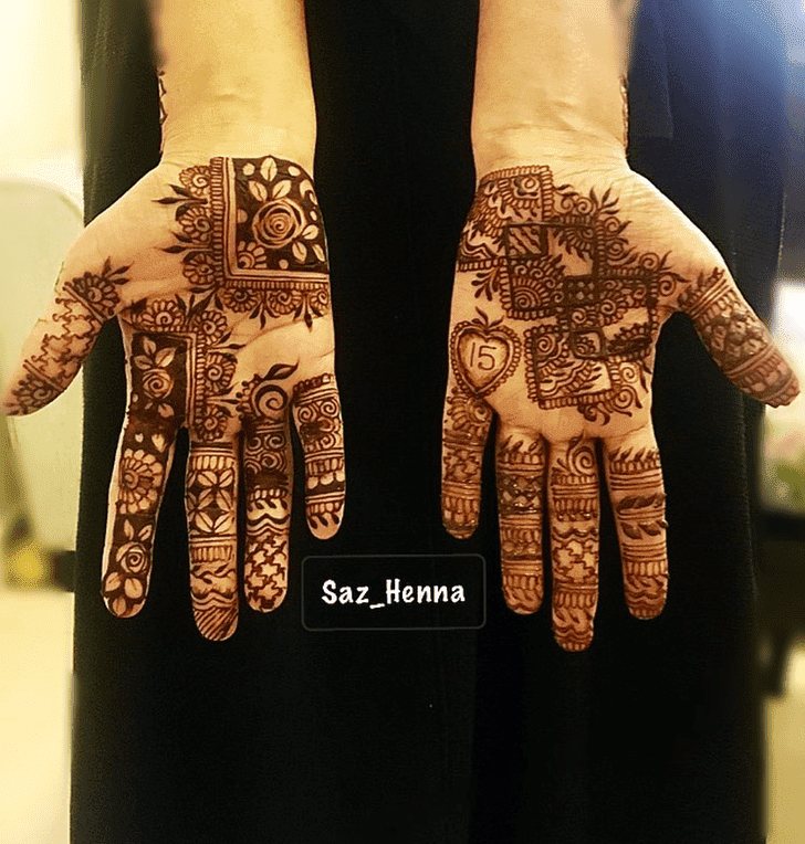 Adorable Independence Day Henna Design