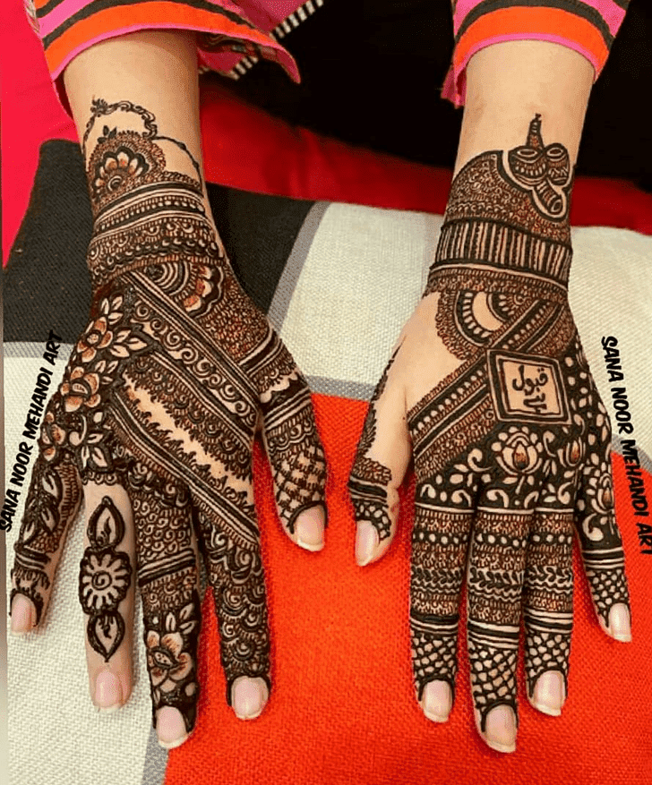 Charming Independence Day Henna Design