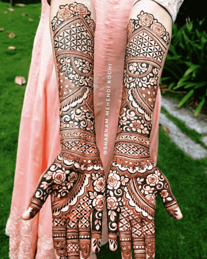 Appealing Indian Henna design