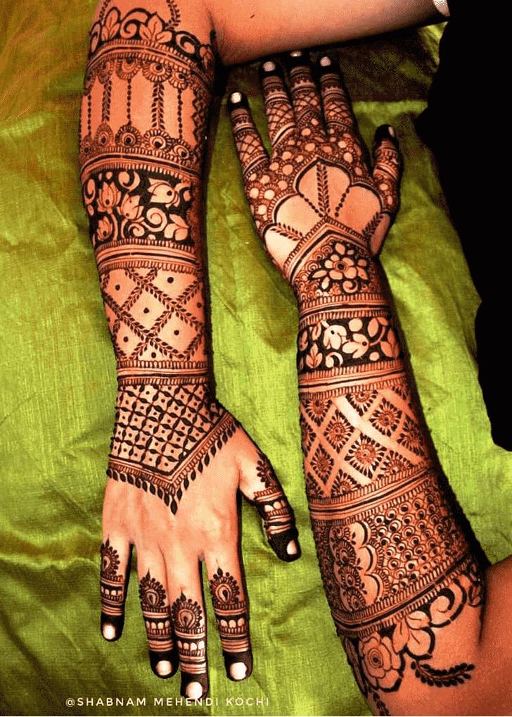 Beauteous Indian Henna design