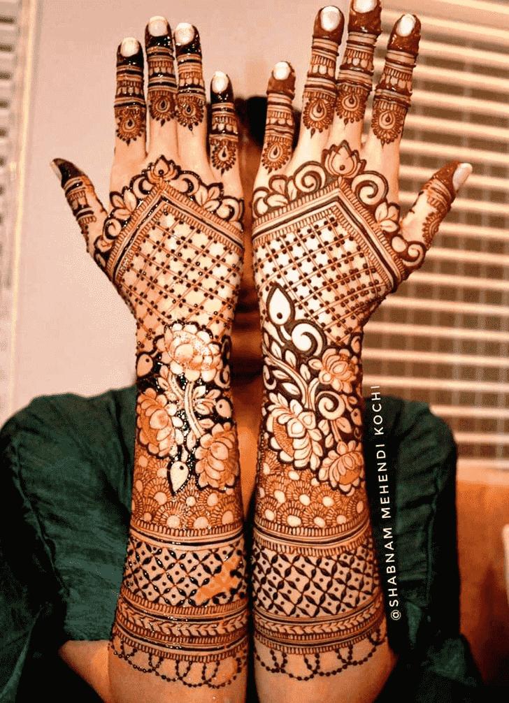 Bewitching Indian Henna design