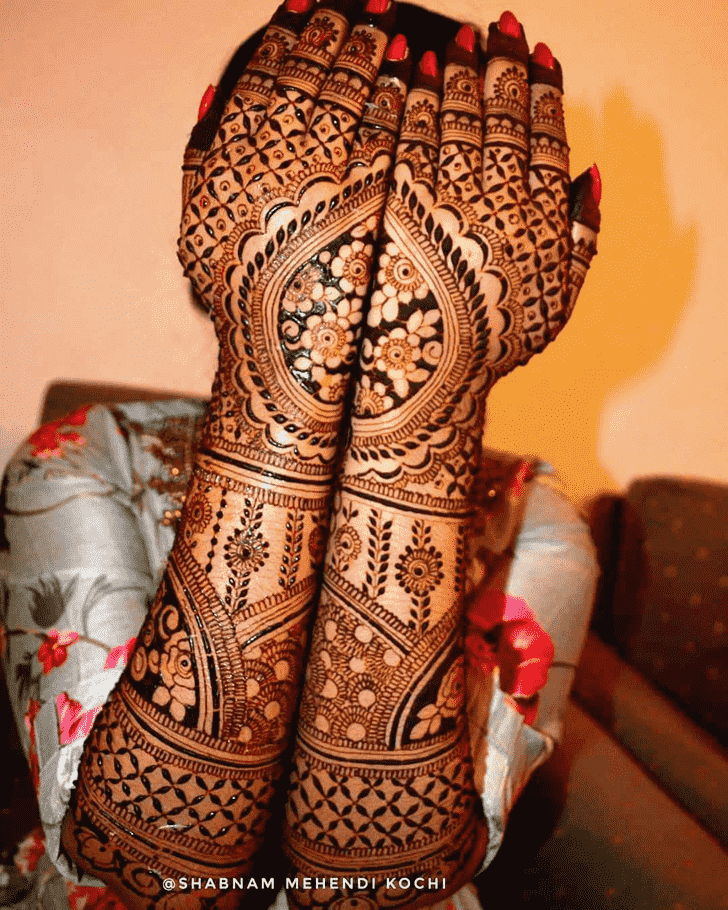 Charming Indian Henna design