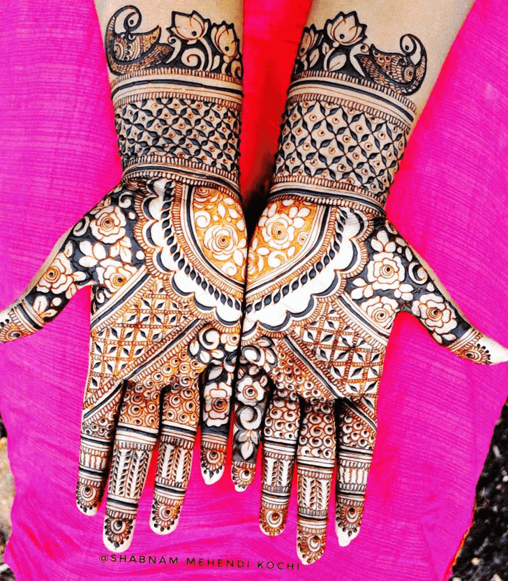Comely Indian Henna design