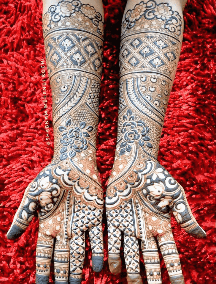 Delicate Indian Henna design