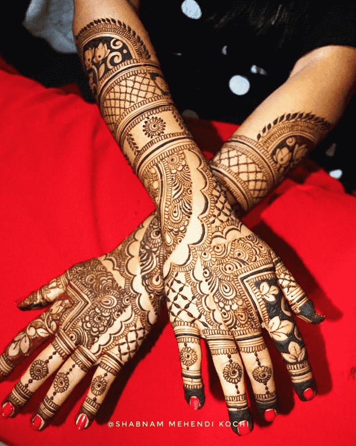 Fine Indian Henna design