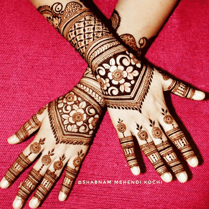 Good Looking Indian Henna design
